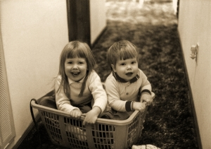Laura and Jason in Basket