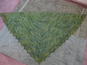 Leaf Lace Shawl Blocking