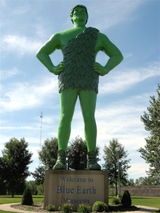 Jolly green Giant  Blue Earth